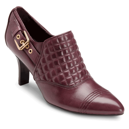 Lianna Quilted Shootie Women's Heels in Purple